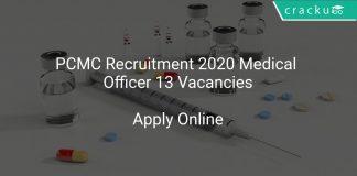 PCMC Recruitment 2020 Medical Officer 13 Vacancies