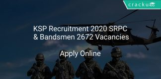 KSP Recruitment 2020 SRPC & Bandsmen 2672 Vacancies