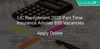 LIC Recruitment 2020 Part Time Insurance Adviser 850 Vacancies