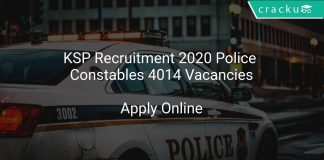 KSP Recruitment 2020 Police Constables 4014 Vacancies