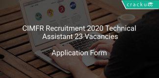 CIMFR Recruitment 2020 Technical Assistant 23 Vacancies