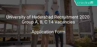University of Hyderabad Recruitment 2020 Group A, B, C 14 Vacancies