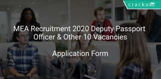 MEA Recruitment 2020 Deputy Passport Officer & Other 10 Vacancies