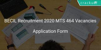 BECIL Recruitment 2020 MTS 464 Vacancies
