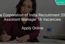 Jute Corporation of India Recruitment 2020 Assistant Manager 16 Vacancies