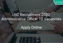 UIIC Recruitment 2020 Administrative Officer 10 Vacancies
