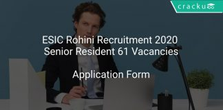 ESIC Rohini Recruitment 2020 Senior Resident 61 Vacancies