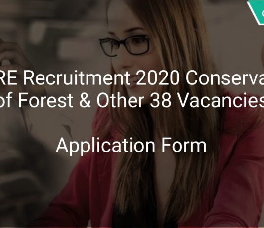 ICFRE Recruitment 2020 Conservator of Forest & Other 38 Vacancies