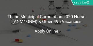 Thane Municipal Corporation 2020 Nurse (ANM/ GNM) & Other 495 Vacancies