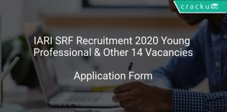 IARI SRF Recruitment 2020 Young Professional & Other 14 Vacancies