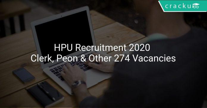 HPU Recruitment 2020