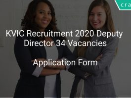 KVIC Recruitment 2020 Deputy Director 34 Vacancies