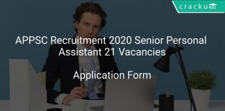 APPSC Recruitment 2020 Senior Personal Assistant 21 Vacancies