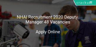 NHAI Recruitment 2020 Deputy Manager 48 Vacancies