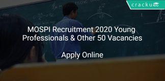 MOSPI Recruitment 2020 Young Professionals & Other 50 Vacancies