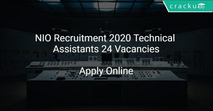 NIO Recruitment 2020 Technical Assistants 24 Vacancies