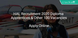 HAL Recruitment 2020 Diploma Apprentices & Other 100 Vacancies