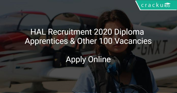 HAL Recruitment 2020 Diploma Apprentices & Other 100 Vacancies