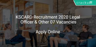 KSCARD Recruitment 2020 Legal Officer & Other 07 Vacancies
