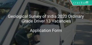 Geological Survey of India 2020 Ordinary Grade Driver 13 Vacancies