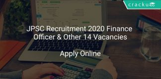 JPSC Recruitment 2020 Finance Officer & Other 14 Vacancies
