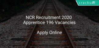 NCR Recruitment 2020 Apprentice 196 Vacancies