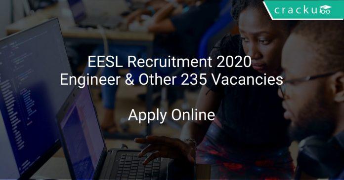 EESL Recruitment 2020 Engineer & Other 235 Vacancies