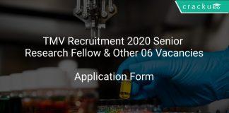 TMV Recruitment 2020 Senior Research Fellow & Other 06 Vacancies
