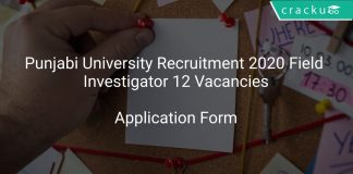 Punjabi University Recruitment 2020 Field Investigator 12 Vacancies