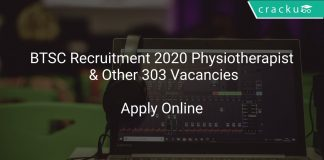 BTSC Recruitment 2020 Physiotherapist & Other 303 Vacancies