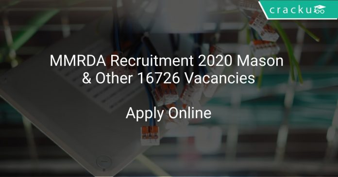 MMRDA Recruitment 2020 Mason & Other 16726 Vacancies