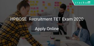 HPBOSE Recruitment TET Exam 2020