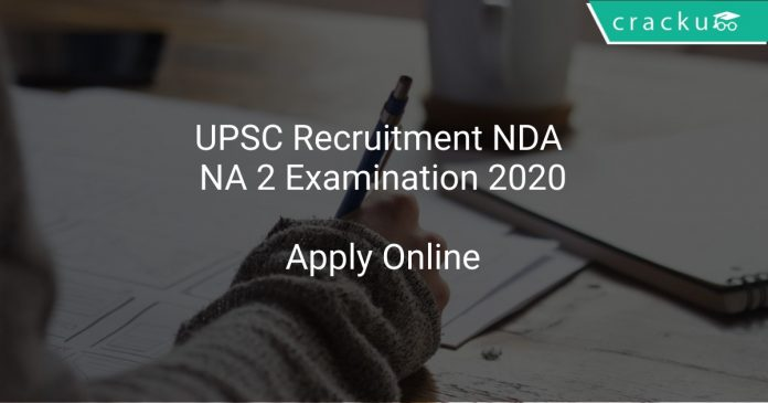 UPSC Recruitment NDA NA 2 Examination 2020