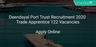 Deendayal Port Trust Recruitment 2020 Trade Apprentice 122 Vacancies
