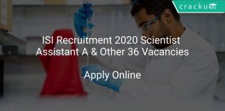 ISI Recruitment 2020 Scientist Assistant A & Other 36 Vacancies