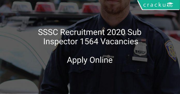 SSSC Recruitment 2020 Sub Inspector 1564 Vacancies