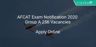 AFCAT Exam Notification 2020 Group A 256 Vacancies