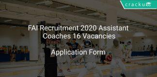 FAI Recruitment 2020 Assistant Coaches 16 Vacancies