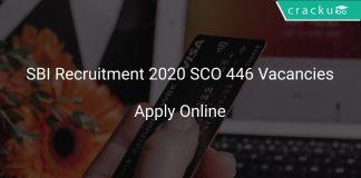 SBI Recruitment 2020 SCO 446 Vacancies