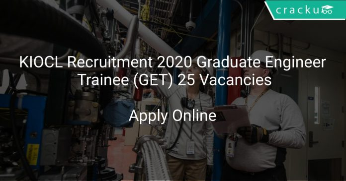 KIOCL Recruitment 2020 Graduate Engineer Trainee (GET) 25 Vacancies