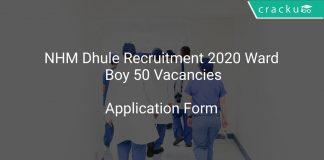 NHM Dhule Recruitment 2020 Ward Boy 50 Vacancies