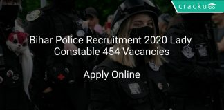 Bihar Police Recruitment 2020 Lady Constable 454 Vacancies