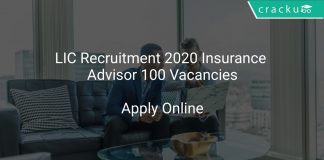 LIC Recruitment 2020 Insurance Advisor 100 Vacancies