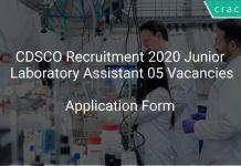 CDSCO Recruitment 2020 Junior Laboratory Assistant 05 Vacancies
