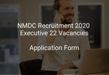 NMDC Recruitment 2020 Executive 22 Vacancies