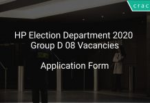 HP Election Department 2020 Group D 08 Vacancies