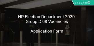 HP Election Department 2020 Group D 08 Vacancies
