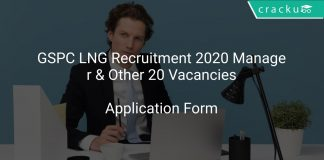 GSPC LNG Recruitment 2020 Manager & Other 20 Vacancies