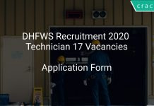 DHFWS Recruitment 2020 Technician 17 Vacancies