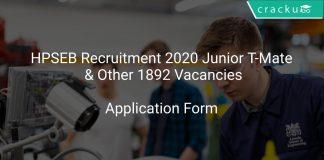 HPSEB Recruitment 2020 Junior T-Mate & Other 1892 Vacancies